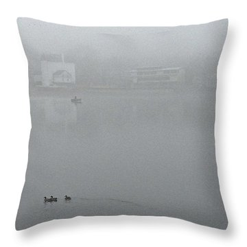Foggy Morning In Paradise - 01 Throw Pillow