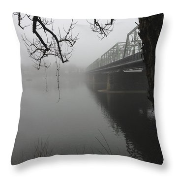 Foggy Morning In Paradise - The Bridge Throw Pillow