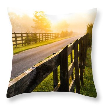 Foggy Morning Throw Pillow by Shelby  Young
