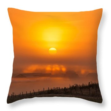 Foggy Morning Throw Pillow by Torbjorn Swenelius