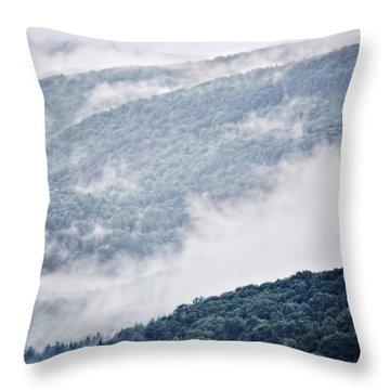 Foggy Mountainscape Throw Pillow