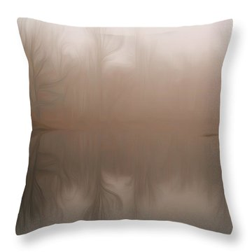 Foggy Reflection Throw Pillow