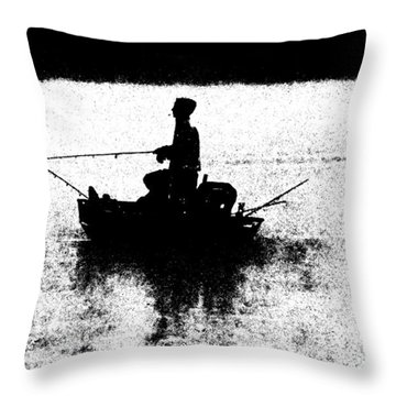 Foggy River Dawn Throw Pillow