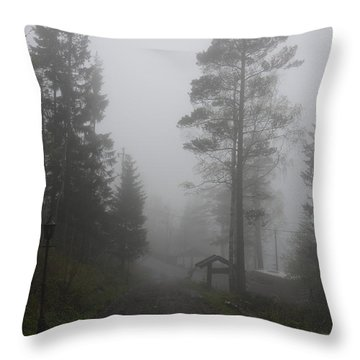 Foggy Romance 1 Throw Pillow