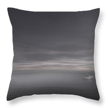 Foggy Stillness Throw Pillow by Lourry Legarde
