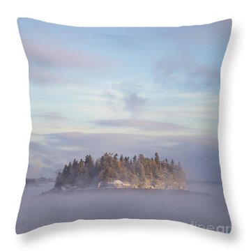 Fogscape Throw Pillow by Evelina Kremsdorf