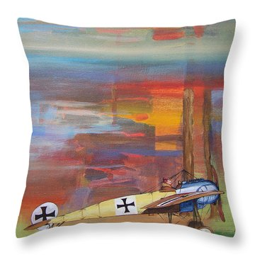 Fokker Ready Throw Pillow
