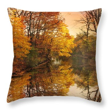 Throw Pillow featuring the photograph Foliage Reflected by Jessica Jenney
