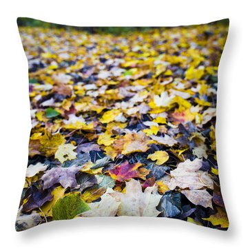 Throw Pillow featuring the photograph Foliage by Sebastian Musial