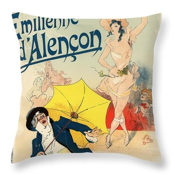 Folies Bergere Emilienne D'alencon Throw Pillow