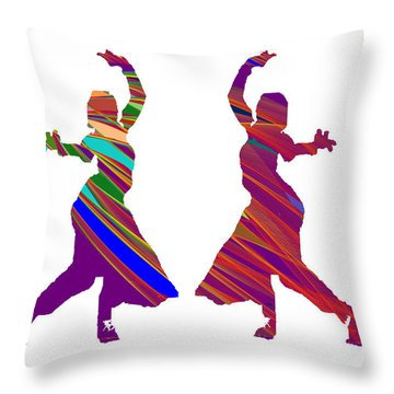 Throw Pillow featuring the photograph Folk Dance Sparkle Graphic Decorations by Navin Joshi