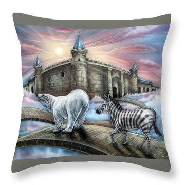 Follow Me Throw Pillow by John Bower