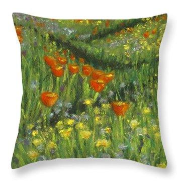Poppy Trail Throw Pillow
