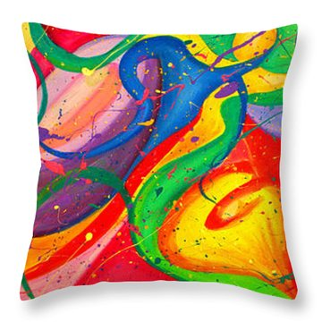 Follow Me Triptych Throw Pillow by Julia Fine Art And Photography