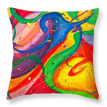Follow Me Triptych Throw Pillow