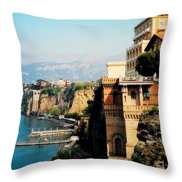 Follow My Heart To Sorrento Throw Pillow
