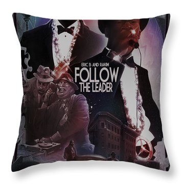 Follow The Leader 2 Throw Pillow by Nelson Dedos Garcia