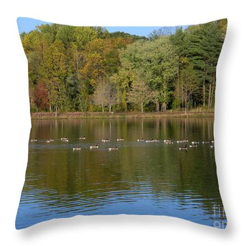 Throw Pillow featuring the photograph Follow The Leader by Emmy Marie Vickers