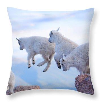 Follow The Leader Throw Pillow by Jim Garrison