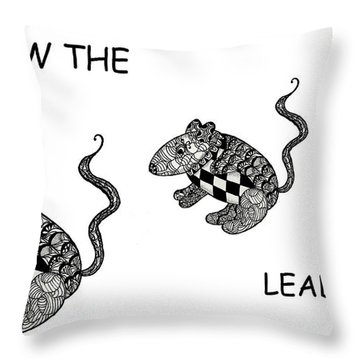 Follow The Leader Throw Pillow by Jo-Anne Gazo-McKim
