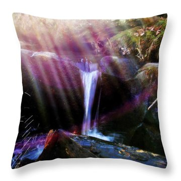Follow  The Light Throw Pillow by Peggy Franz