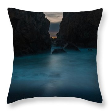 Follow The Light.... Big Sur Throw Pillow