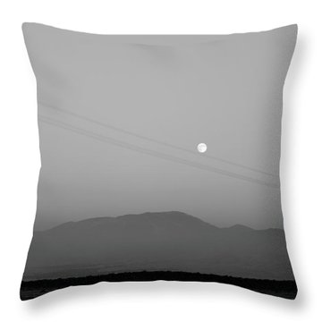 Follow The Moon Throw Pillow