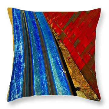 Follow The Rails Throw Pillow by Marcia Lee Jones