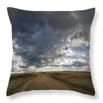 Follow The Road Throw Pillow