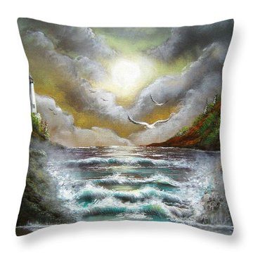 Throw Pillow featuring the painting Follow The Wind by Patrice Torrillo