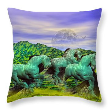 Follow The Yellow Brick Road Throw Pillow by Betsy Knapp