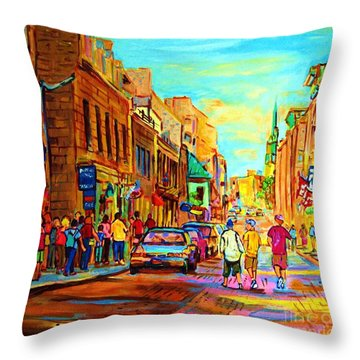 Follow The Yellow Brick Road Throw Pillow by Carole Spandau