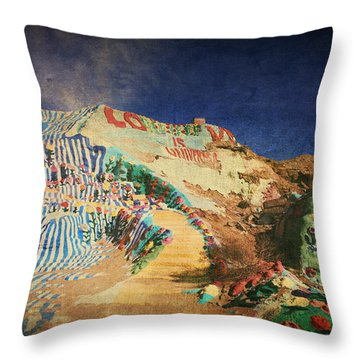 Follow The Yellow Brick Road Throw Pillow by Laurie Search