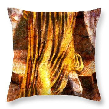 Following A Path Not Taken By Mortals Throw Pillow