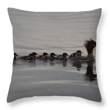 Following Mom Throw Pillow