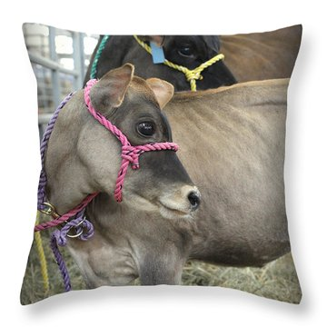 Following Mom's Lead Throw Pillow