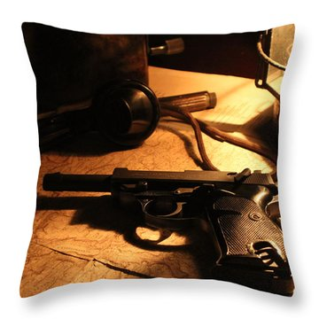 Following Orders Throw Pillow