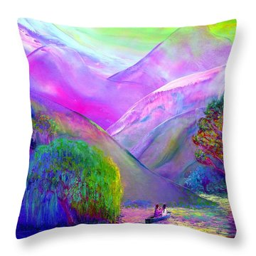 Love Is Following The Flow Together Throw Pillow