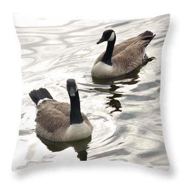 Following The Leader Throw Pillow