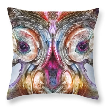 Throw Pillow featuring the digital art Fomorii Incubator Remix by Otto Rapp