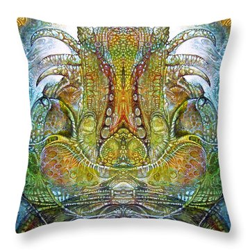 Throw Pillow featuring the digital art Fomorii Throne by Otto Rapp