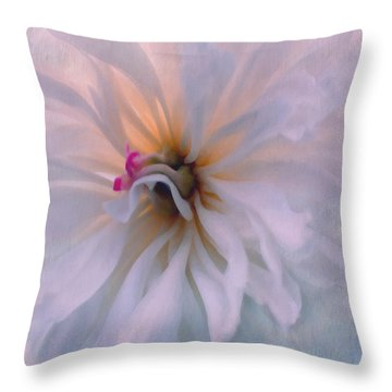 Throw Pillow featuring the photograph Romance by Jean OKeeffe Macro Abundance Art