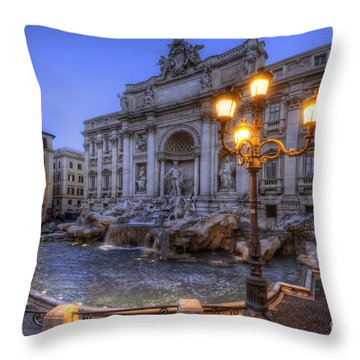 Fontana Di Trevi 3.0 Throw Pillow