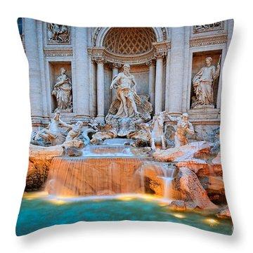 Fontana Di Trevi Throw Pillow by Inge Johnsson