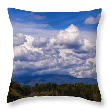 Fontana Lake Storm 2 Throw Pillow