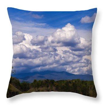 Fontana Lake Storm 2 Throw Pillow by Chris Flees