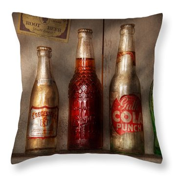 Food - Beverage - Favorite Soda Throw Pillow by Mike Savad