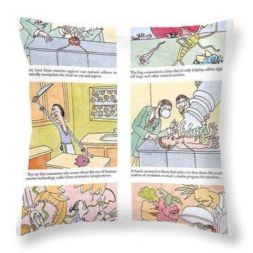 'food Fight' Throw Pillow