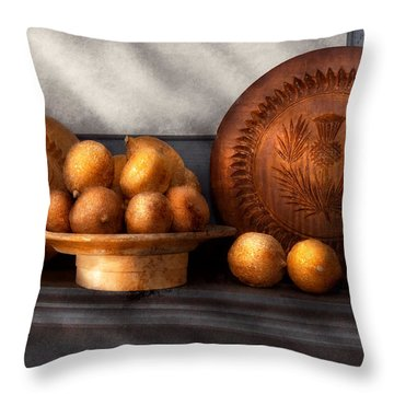 Food - Lemons - Winter Spice  Throw Pillow by Mike Savad