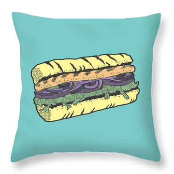 Food Masquerade Throw Pillow